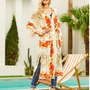 🔶️JUST IN🔶️(10-16) Ivory Paisley Print Duster